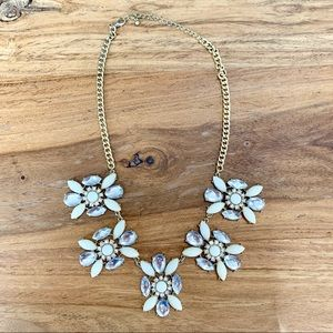 Jewelry - Crystal and White Rhinestone Statement Necklace